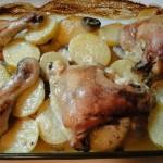 пиле с майонеза и картофи