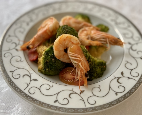 скариди-с-броколи
