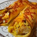 енчиладас с пилешко, царевица и чедър